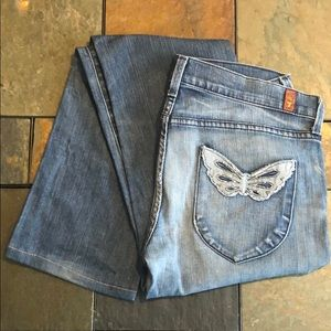 Butterfly pocket jeans by 7 for all mankind
